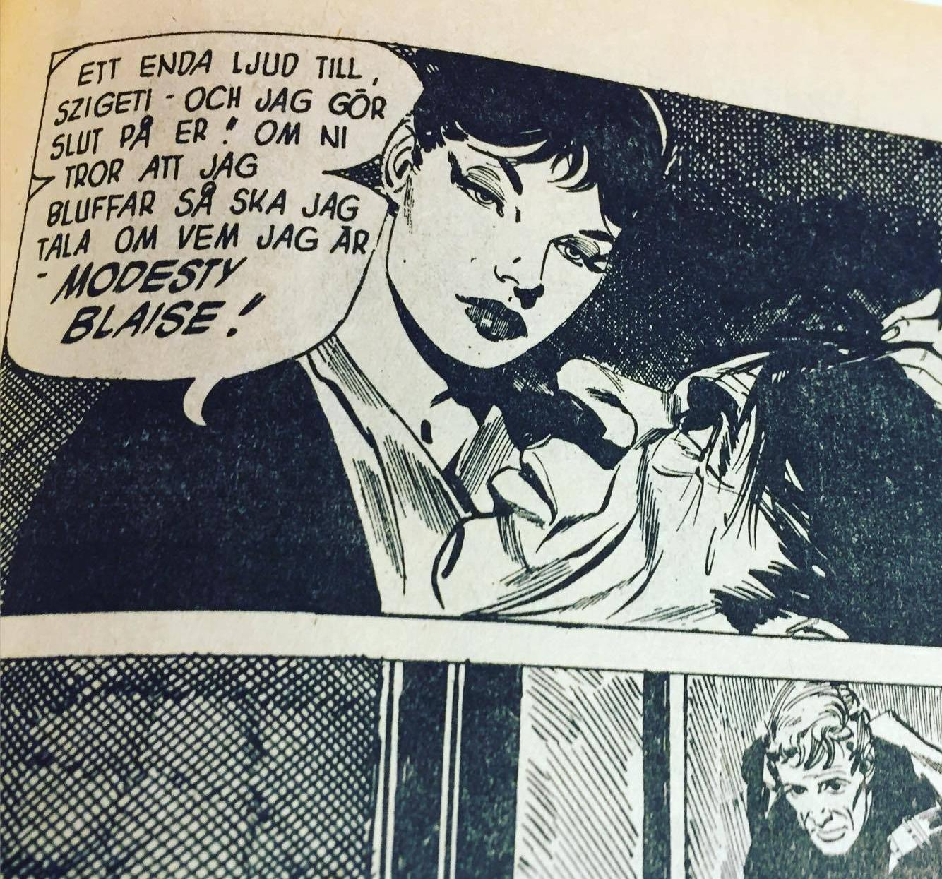 Från Agent Modesty Blaise. Solna : Semic press, 1967-1969